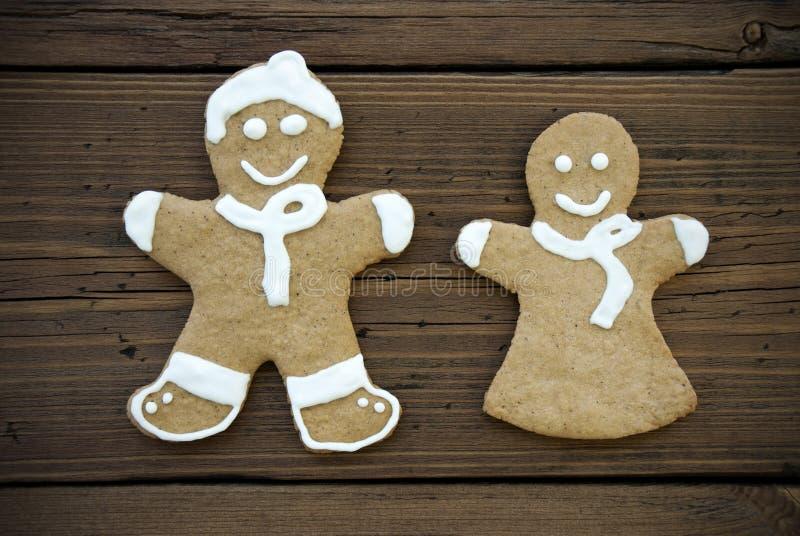 Ginger Bread Couple décoré heureux image stock