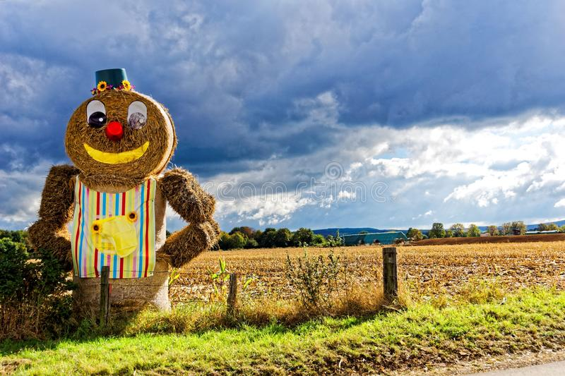 Ginger Bread Hay Themed Under Blue Cloudy Sky during Day Time stock images