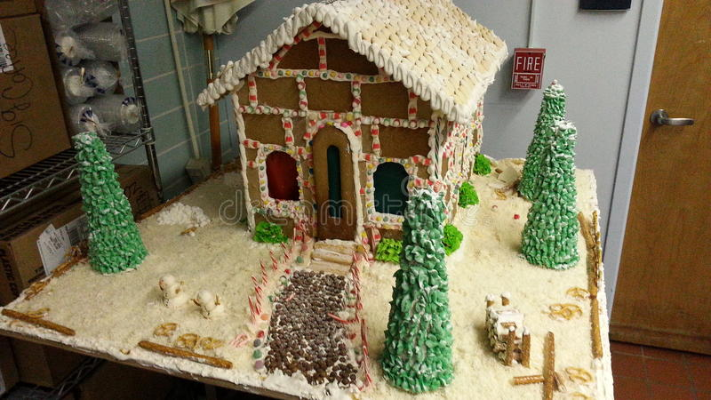 Ginger bread house stock photos