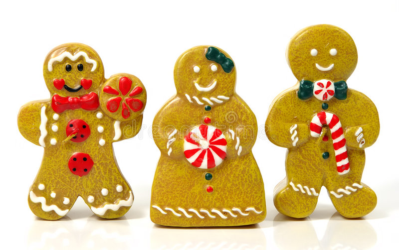 Ginger Bread People stock photos