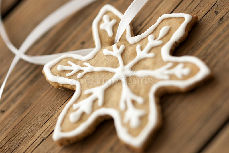 Ginger Bread Star Macro stock afbeelding