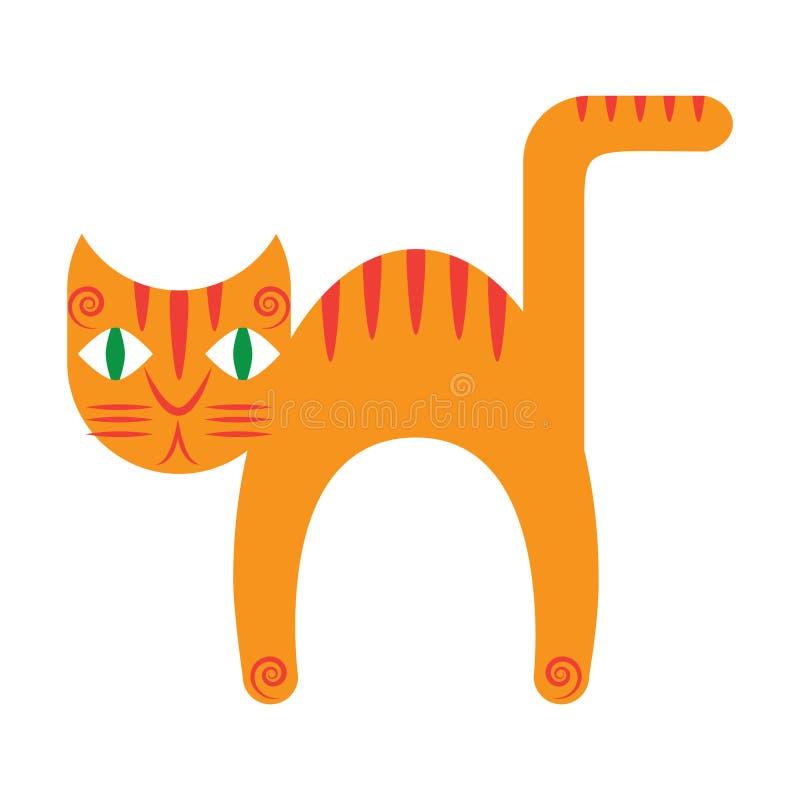Ginger cat stock illustration