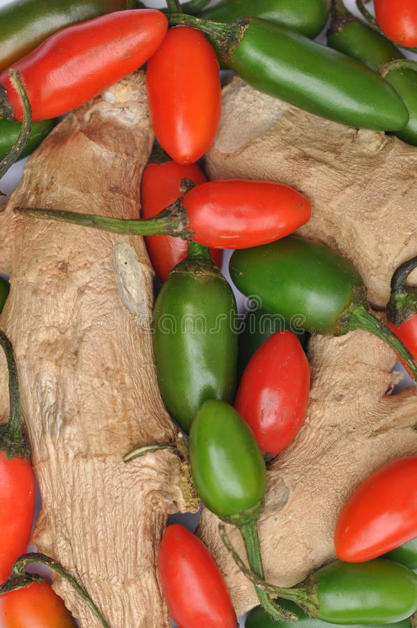 Download Ginger And Chillies Royalty Free Stock Photos - Image: 12904878