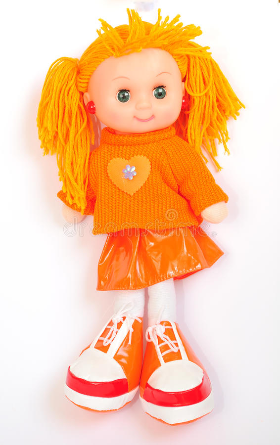 Ginger doll. stock images