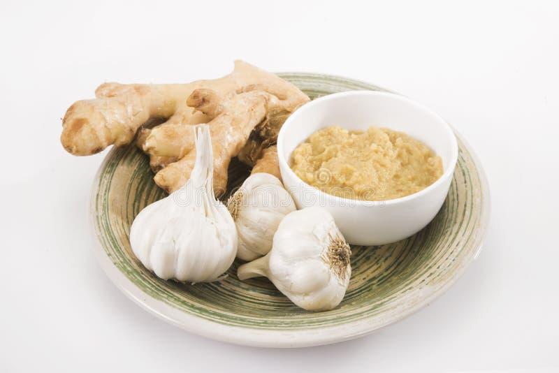 Ginger Garlic Paste lizenzfreie stockbilder