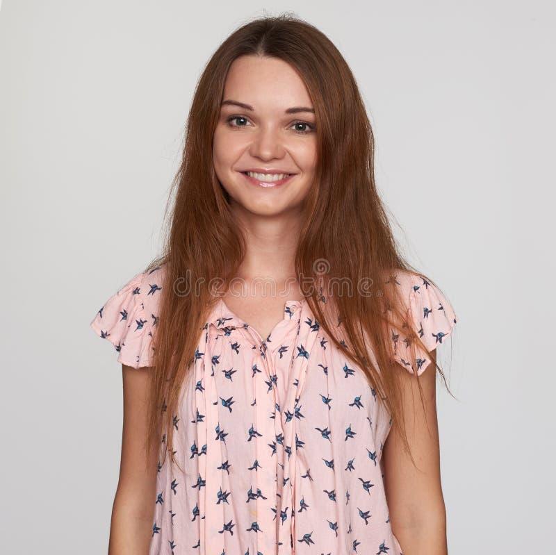 Ginger girl smiling royalty free stock image