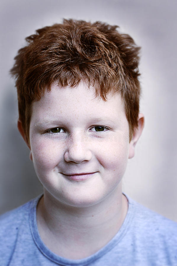 Download Ginger grin boy stock photo. Image of portrait, smile - 21290312