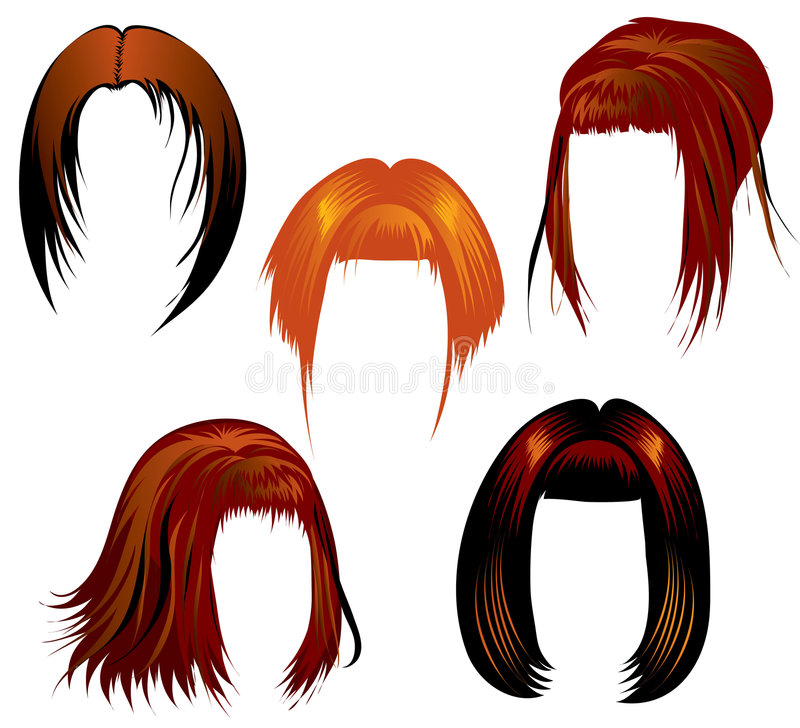 Ginger Hair Styling Royalty Free Stock Image