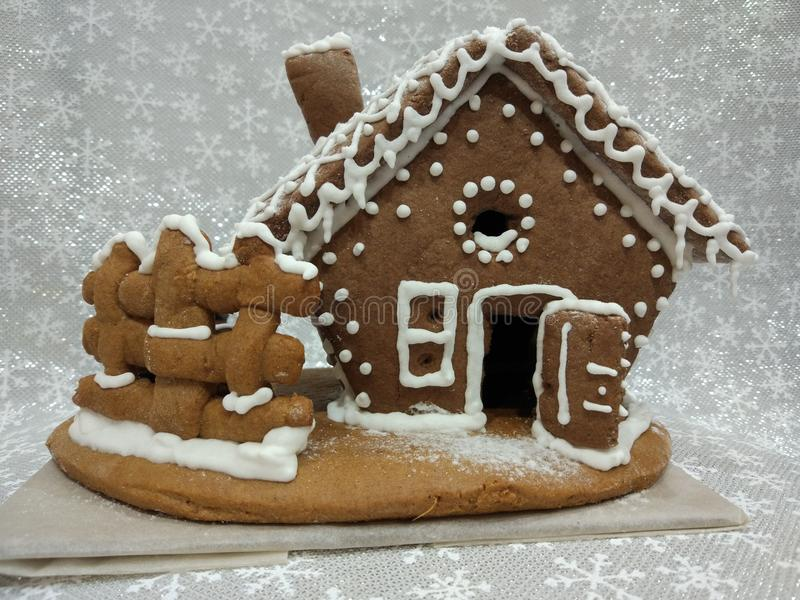Ginger house by own hands royalty free stock photography