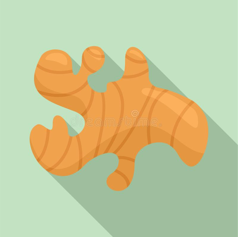 Ginger icon, flat style royalty free illustration