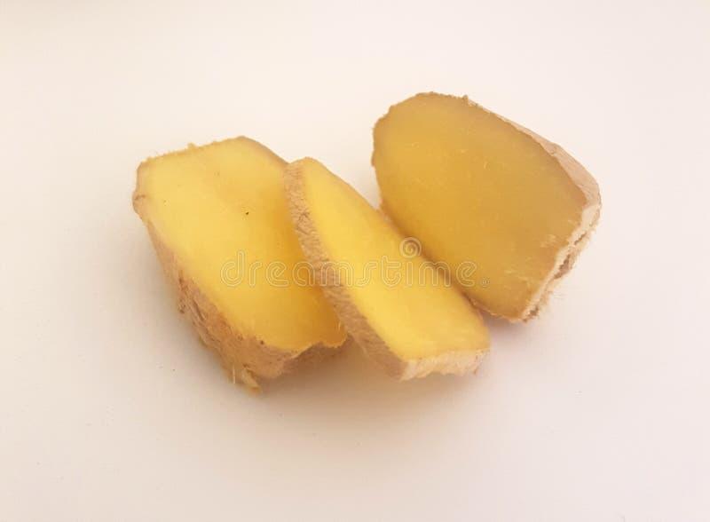 ginger isolated root στοκ εικόνες