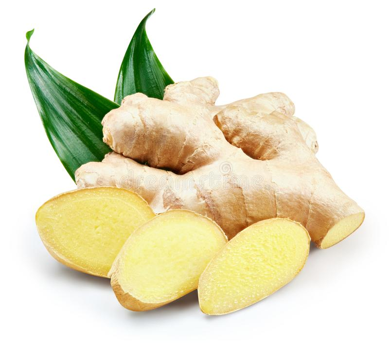 Ginger Isolated on a white stock photography