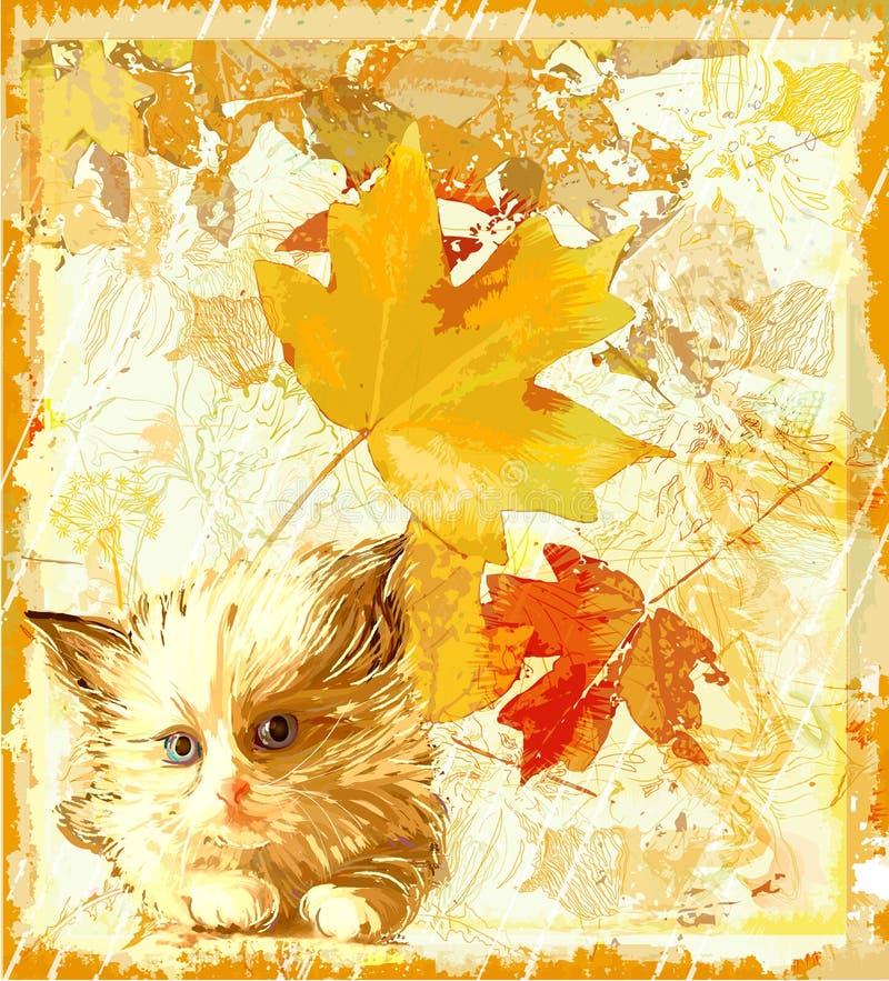Download Ginger Kitten Waiting  For Owner Stock Vector - Image: 17087787