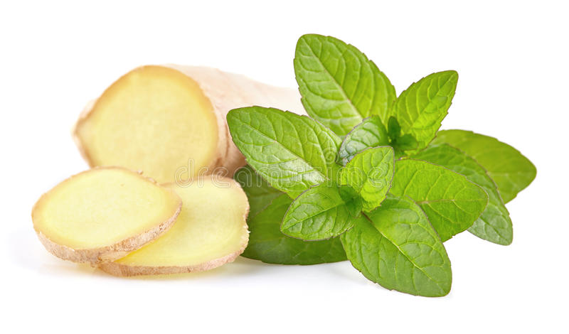 Ginger with mint stock image