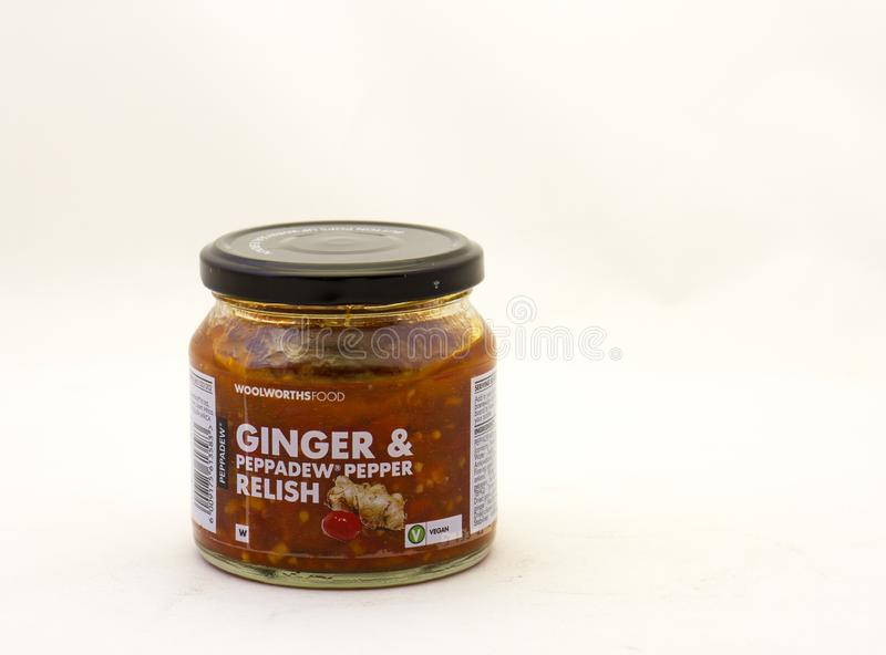Ginger and peppadew pepper relish available in South Africa royalty free stock images