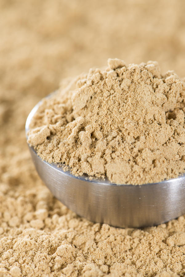 Ginger Powder royalty-vrije stock afbeelding