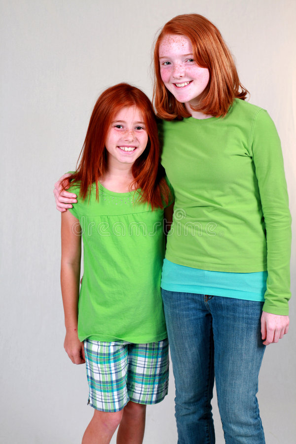 Download Ginger Preteens stock photo. Image of human, female, sisters - 6691738