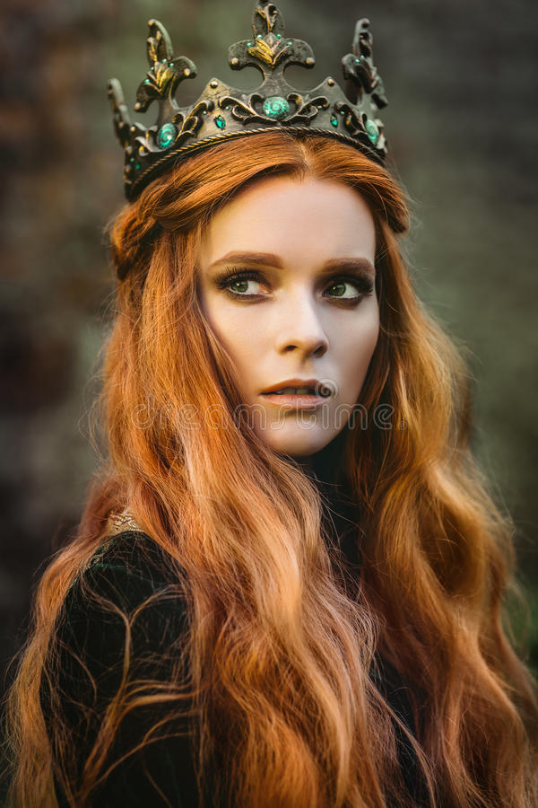 Ginger Queen Near The Castle Stock Image Image Of Fairy Cunning 95831283
