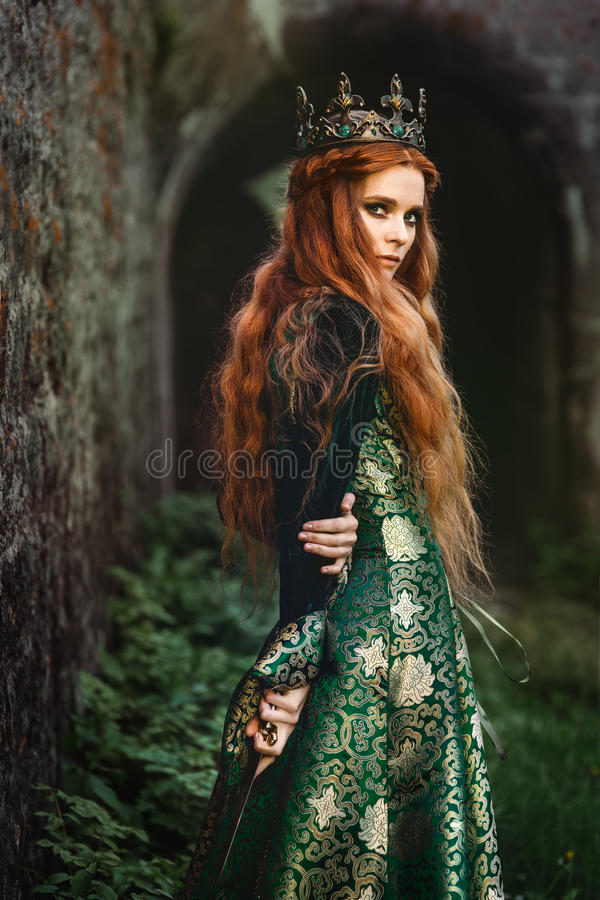 Free Ginger Queen Near The Castle Stock Images - 95831034