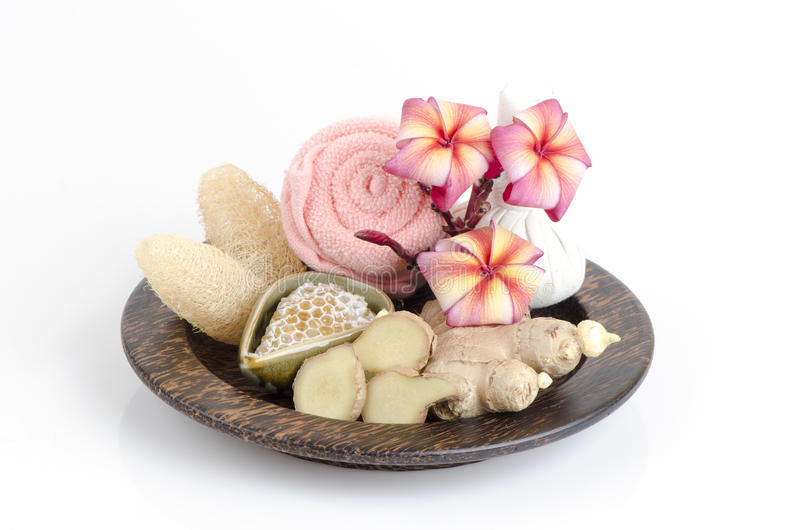 Ginger scrub and honey recipes, reduce wrinkles and make skin glow. To feel the warm breeze calm depression. Nervous system. Stimulates perception and memory stock photos