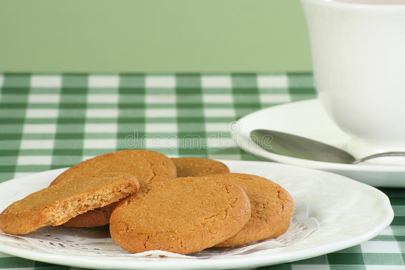 Ginger snap biscuits royalty free stock image