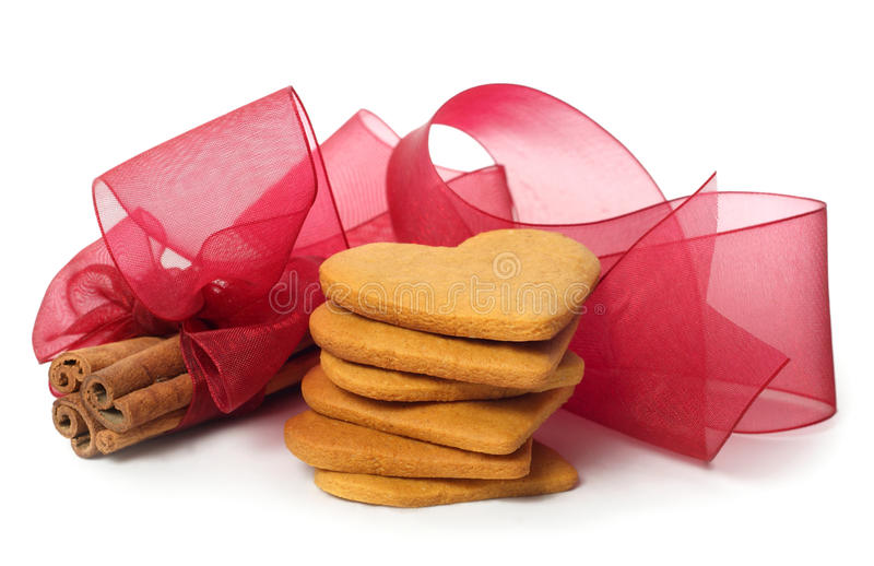 Ginger snap and cinnamon stock image