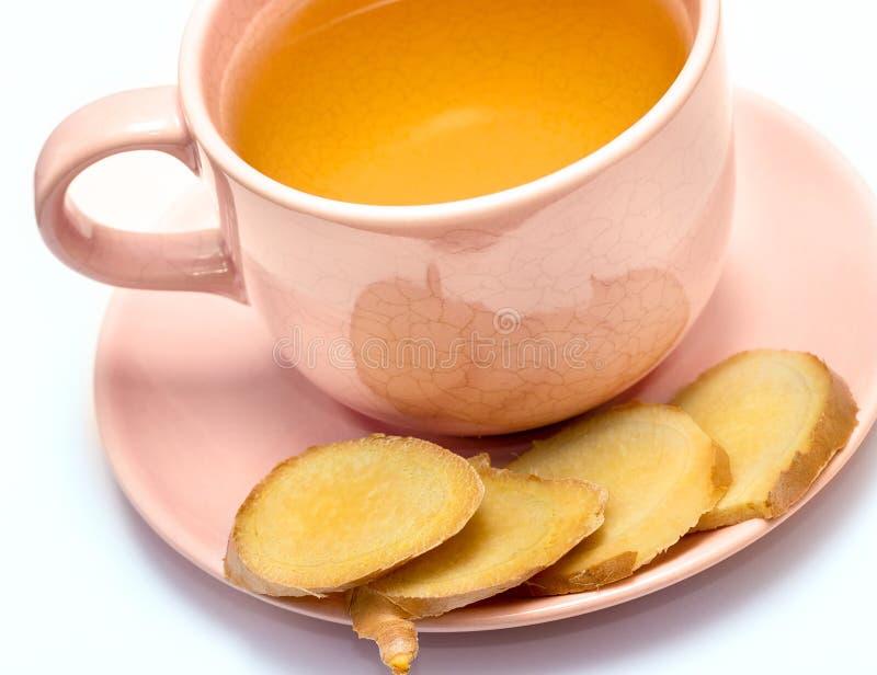 Ginger Tea Cup Represents Refresh würzte und Erfrischungen stockfotos