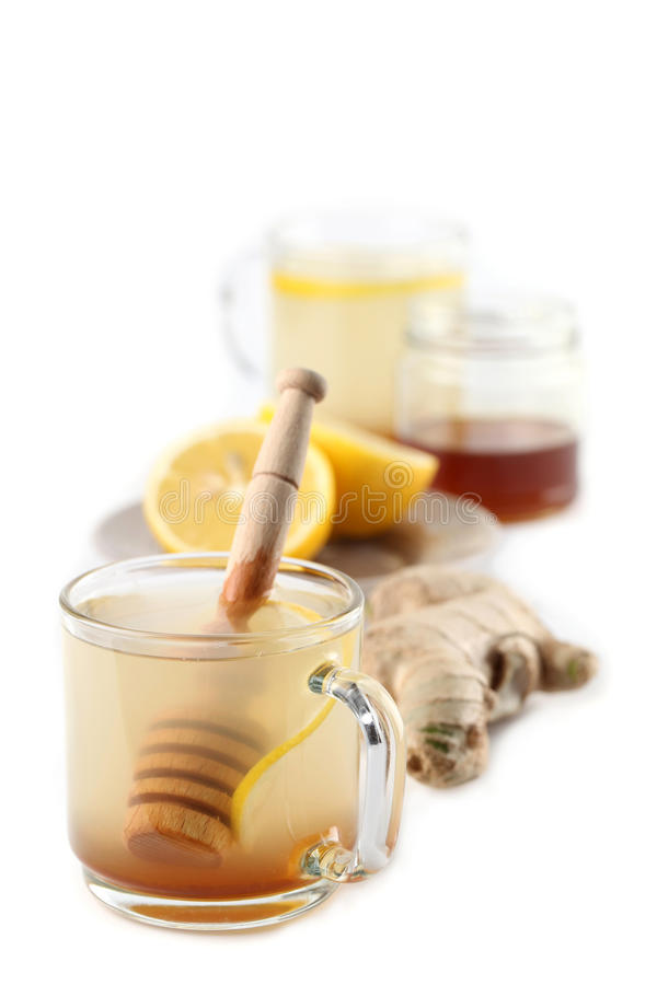 Ginger Tea With Honey And Lemon Royalty Free Stock Photography