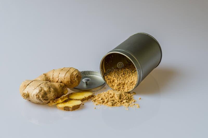 Ginger and Turmeric Powder stock photo