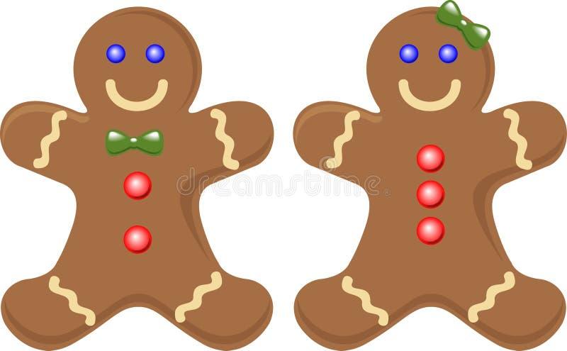 gingerbread пар иллюстрация штока
