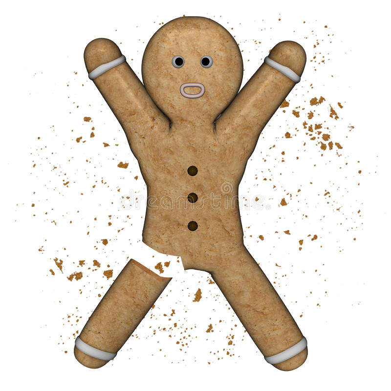 Free Gingerbread Amputed. Royalty Free Stock Photos - 46971788