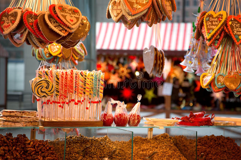 Gingerbread and candies royalty free stock photography