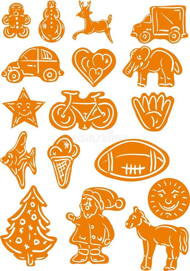 Download Gingerbread Christmas Cookies Stock Vector - Image: 12129914