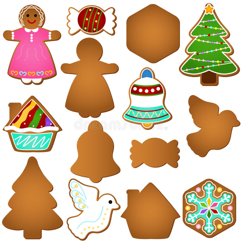 Download Gingerbread (Christmas Festival Biscuit - Cookie) Stock Vector - Image: 22226662