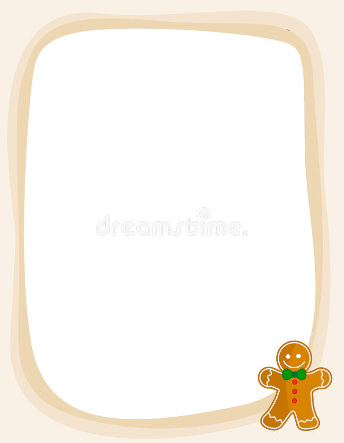 Download Gingerbread Christmas Frame / Border Stock Vector - Illustration of frame, sweets: 19231795