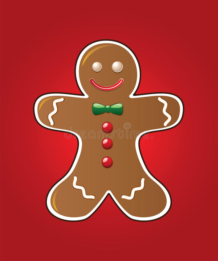 Download Gingerbread cookie stock vector. Illustration of happy - 16743698