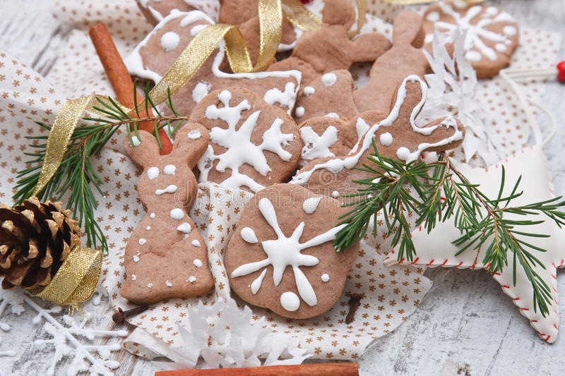 Download Gingerbread cookie stock photo. Image of rabbit, brown - 27113978