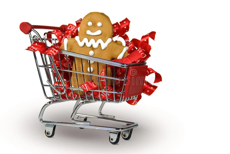 Download Gingerbread Cookie in cart stock image. Image of cart - 25020023