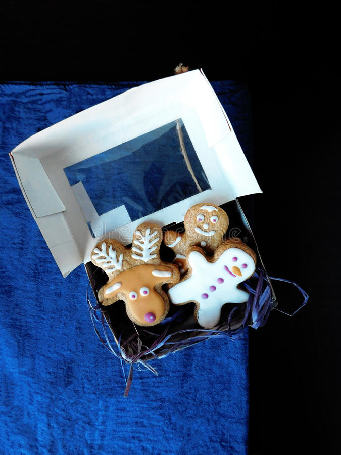 Download Gingerbread Cookies In A Box Stock Photo - Image: 83711960