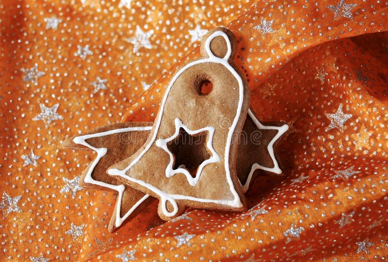 Download Gingerbread Cookies On Christmas Tablecloth Stock Photo - Image: 12167034