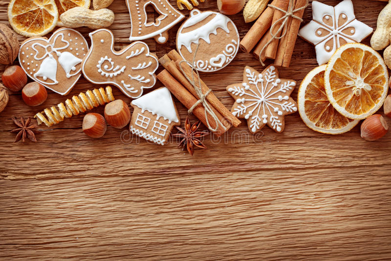 Download Gingerbread Cookies And Spices Stock Photo - Image of food, frame: 22298766