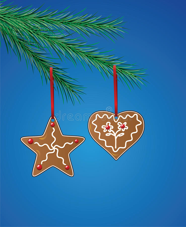 Download Gingerbread Cookies On Xmas Tree Stock Image - Image: 16854091