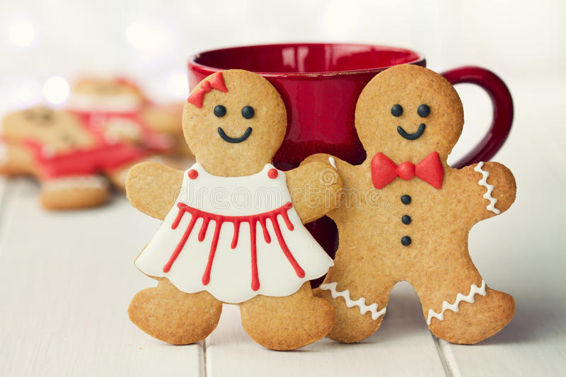 Download Gingerbread couple stock image. Image of food, made, christmas - 26652949