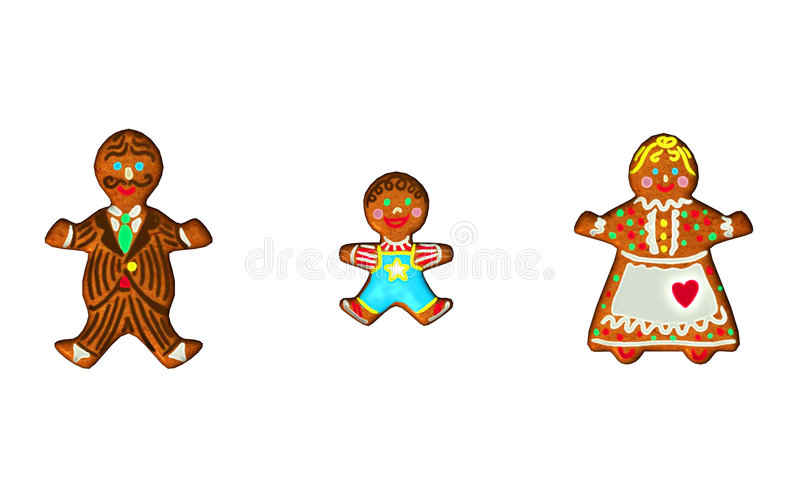 Download Gingerbread Family stock illustration. Image of girl, child - 3702422