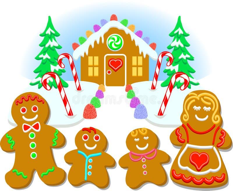 Gingerbread Family/eps stock illustration
