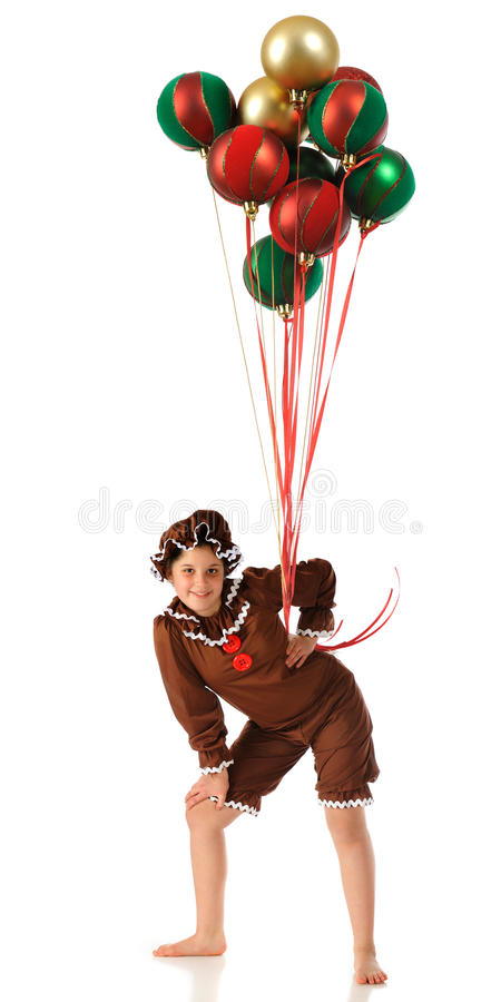 Gingerbread with Fancy Balloons stock photo