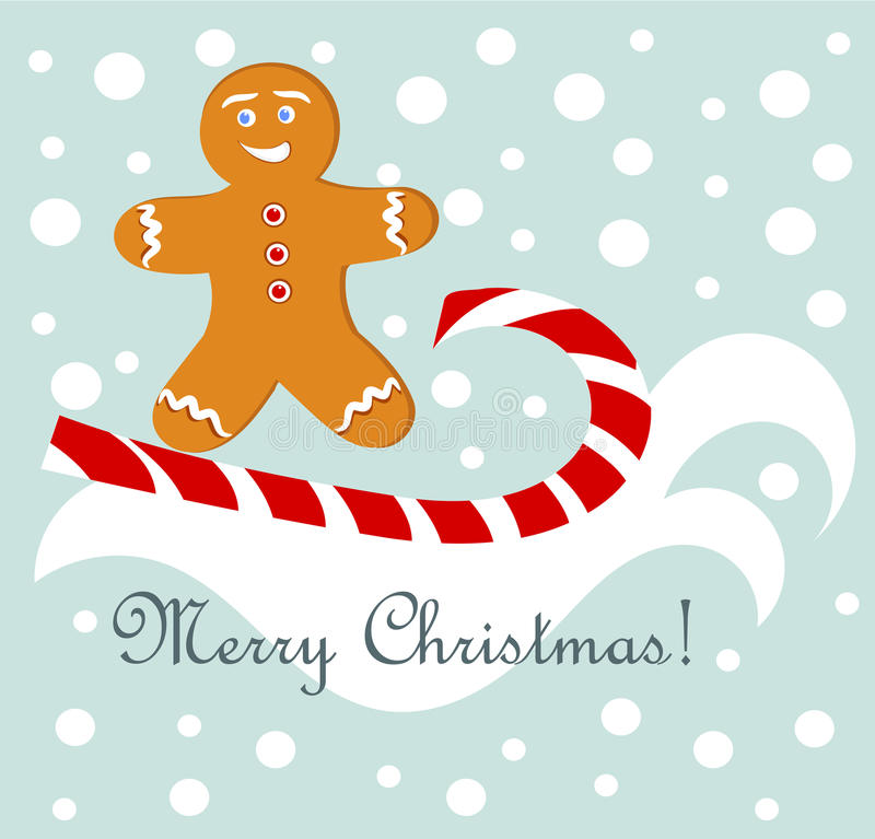 Download Gingerbread fun stock vector. Image of cheerful, card - 22042632