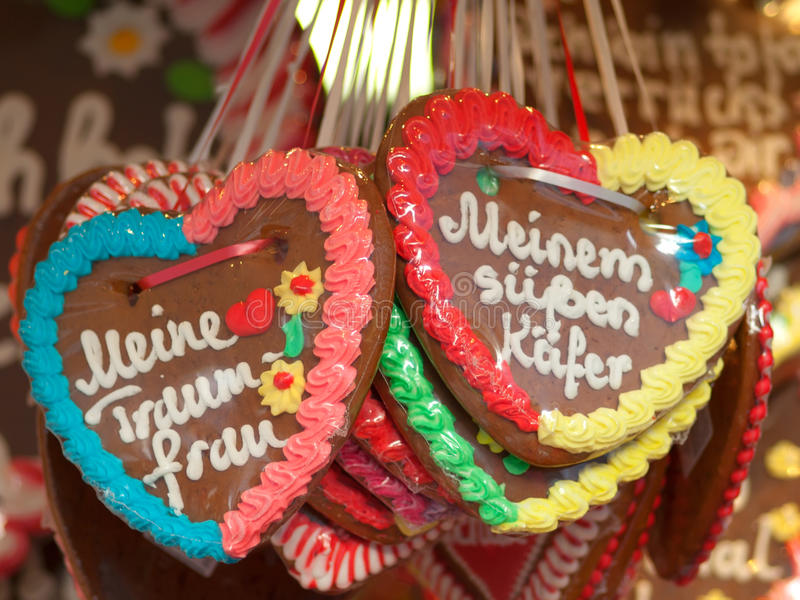 Download Gingerbread heart stock image. Image of love, food, lebkuchen - 16206125