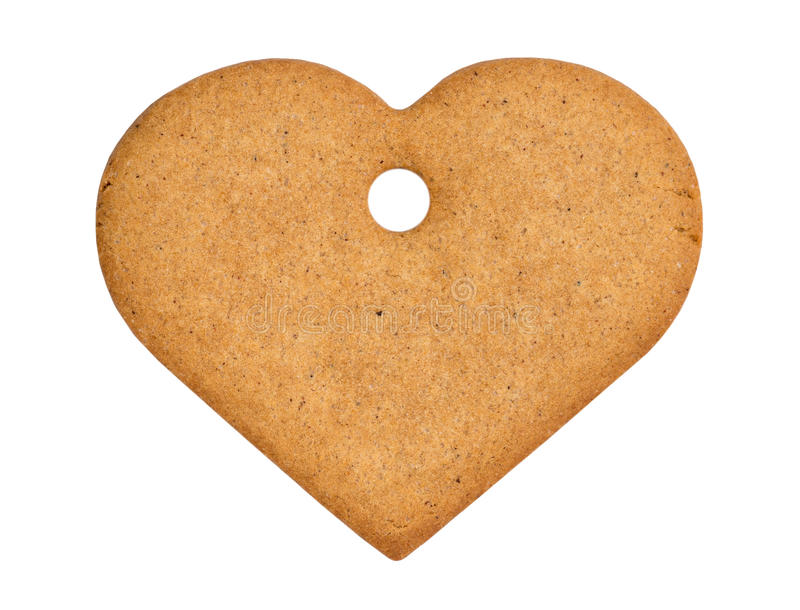 Gingerbread Heart shape royalty free stock image