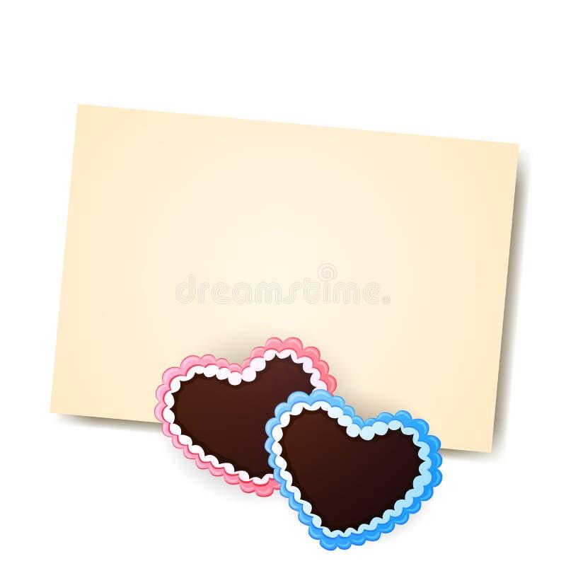 Gingerbread Hearts stock illustration